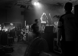 Backstage - b&w